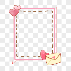 Pink love, love adornment frame png image_picture free