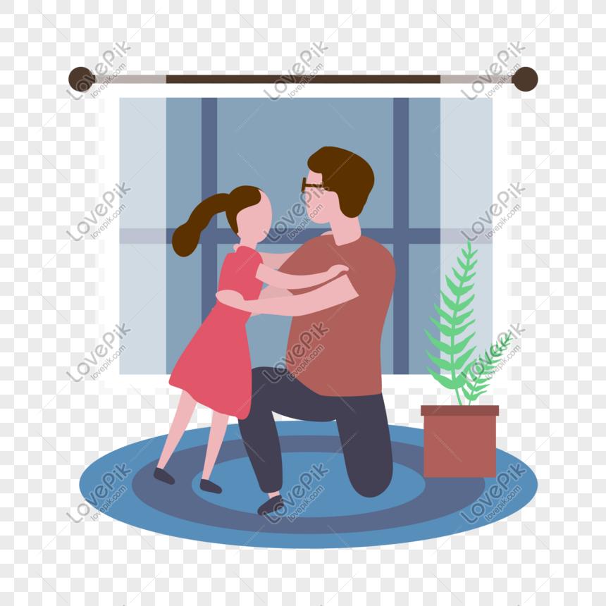 Ilustrasi Kartun Angin Pedalaman Bapa Dan Anak Perempuan Gambar Unduh Gratis Imej 611616148 Format Psd My Lovepik Com