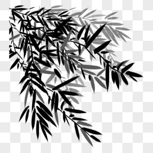 Matériel De Feuille De Bambou De Dessin Animé Image