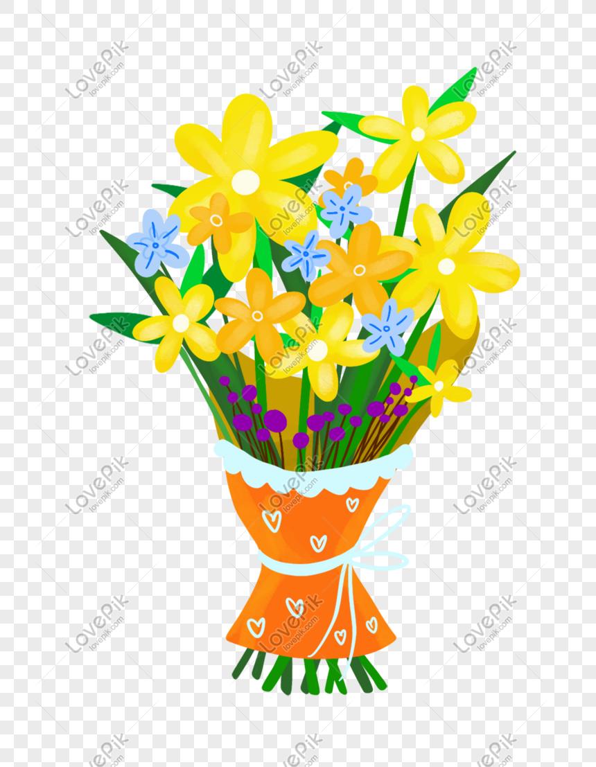Ilustrasi Karangan Bunga Kartun Cantik Png Grafik Gambar Unduh Gratis Lovepik