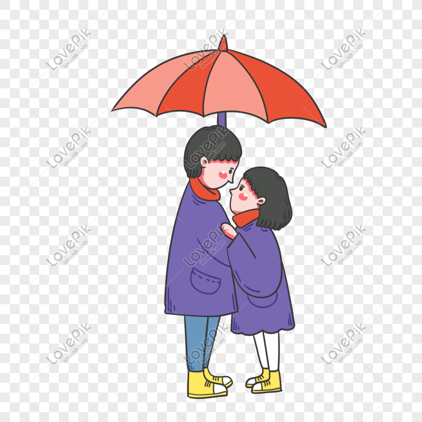 Hand Drawn Cartoon Vector Valentine Couple Png Image Picture Free