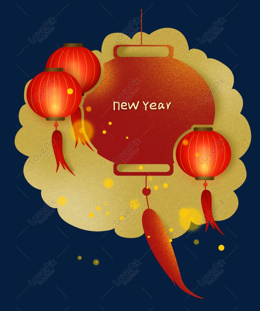 lentera tahun baru imlek chinese style text box border png grafik gambar unduh gratis lovepik lentera tahun baru imlek chinese style