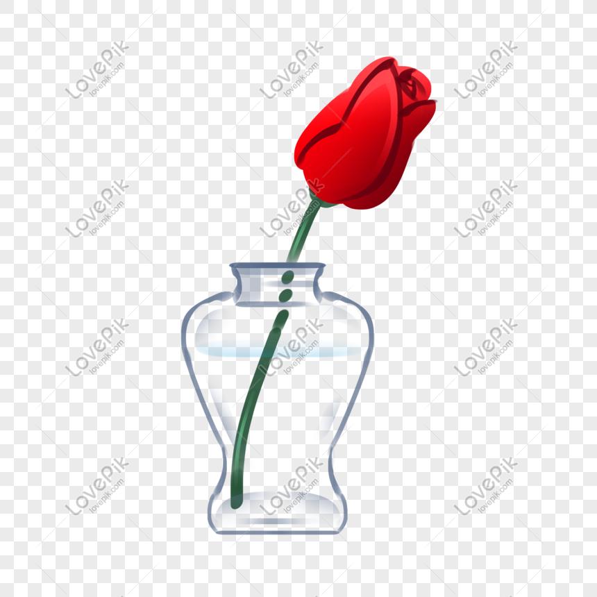Ilustrasi Bunga Mawar Botolan Yang Ditarik Dengan Tangan Png Grafik Gambar Unduh Gratis Lovepik