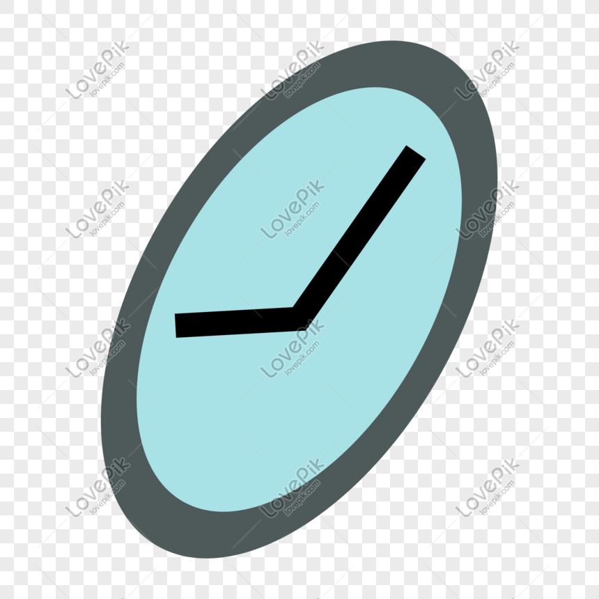 Một Chiếc đồng Hồ Hoạt Hình Tròn Màu Xanh Hình ảnh định