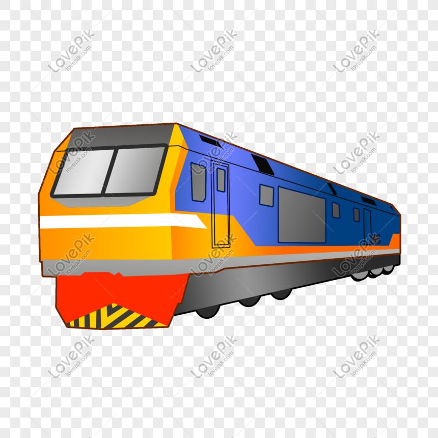 Gambar Kereta Api Kartun Berwarna Ilustrasi Kereta Api Kartun Biru Gambar Unduh Gratis Imej 611629241 Format Psd My Lovepik Com