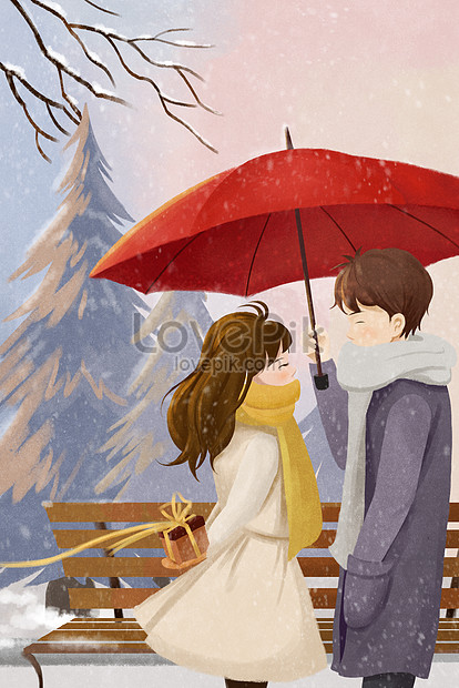 Kencan Pasangan Berpasangan Romantis Suasana Manis Yang Hangat Gambar Unduh Gratis Ilustrasi 630021369 Format Gambar Jpg Lovepik Com