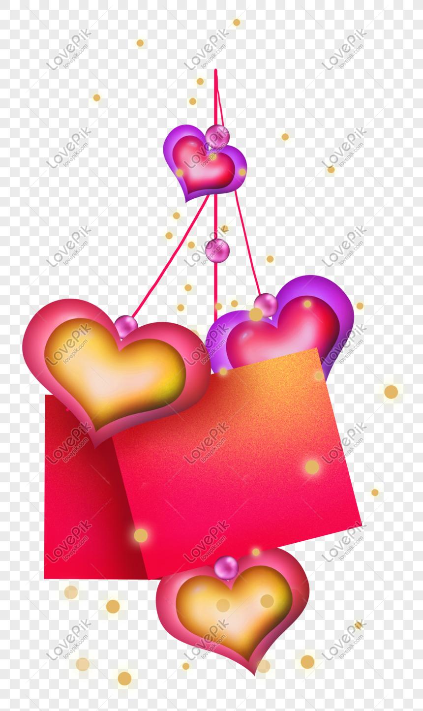 Valentine S Day Red Valentine S Day Decorative Text Box