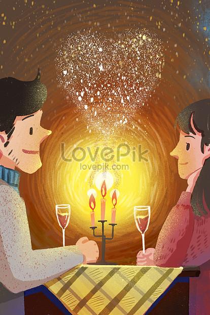 cena romántica con velas a la luz de las velas png
