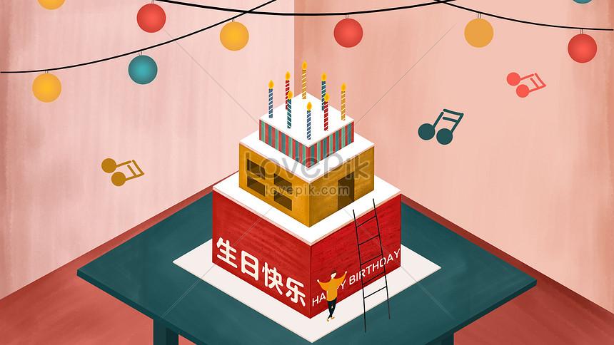 Happy Birthday Cartoon Cake Illustration Illustration Image Picture Free Download 630021607 Lovepik Com