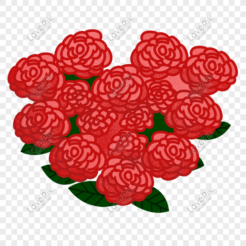 hand drawn rose bouquet illustration png