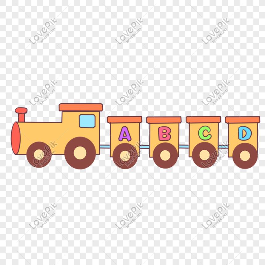 Gambar Kereta Api Kartun Berwarna Ilustrasi Kereta Api Kecil Berwarna Kuning Png Grafik Gambar Unduh Gratis Lovepik