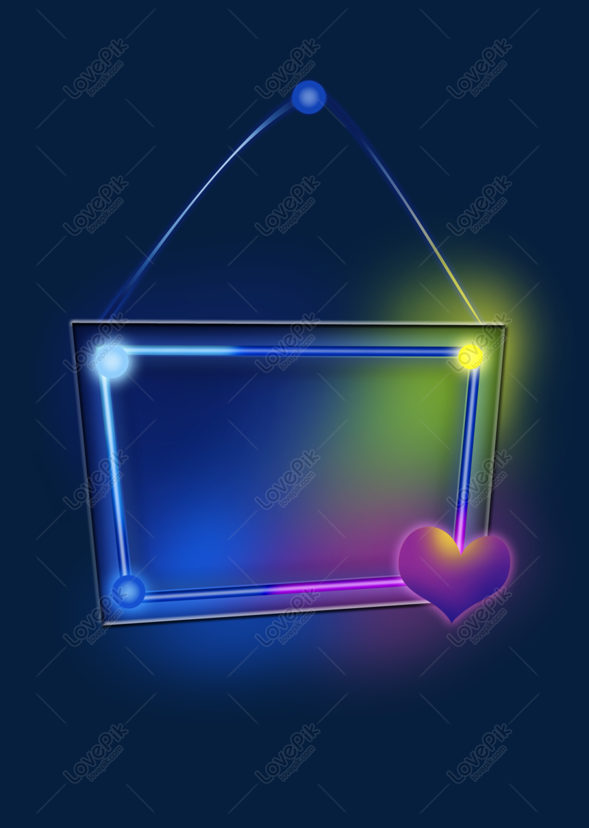 Rainbow light glowing text box png image_picture free download