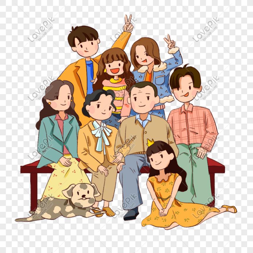 Gambar Lukisan Kartun Keluarga