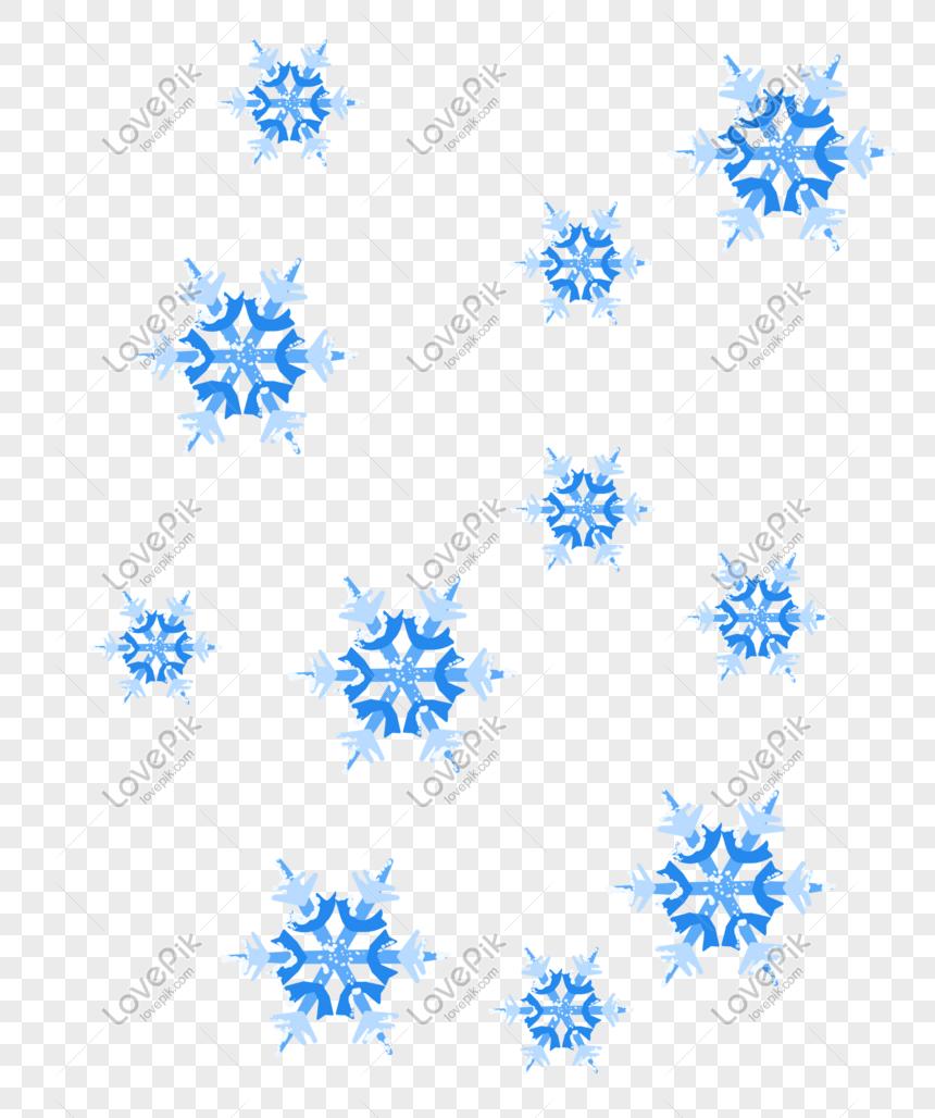 vẽ tay tuyết rơi minh họa