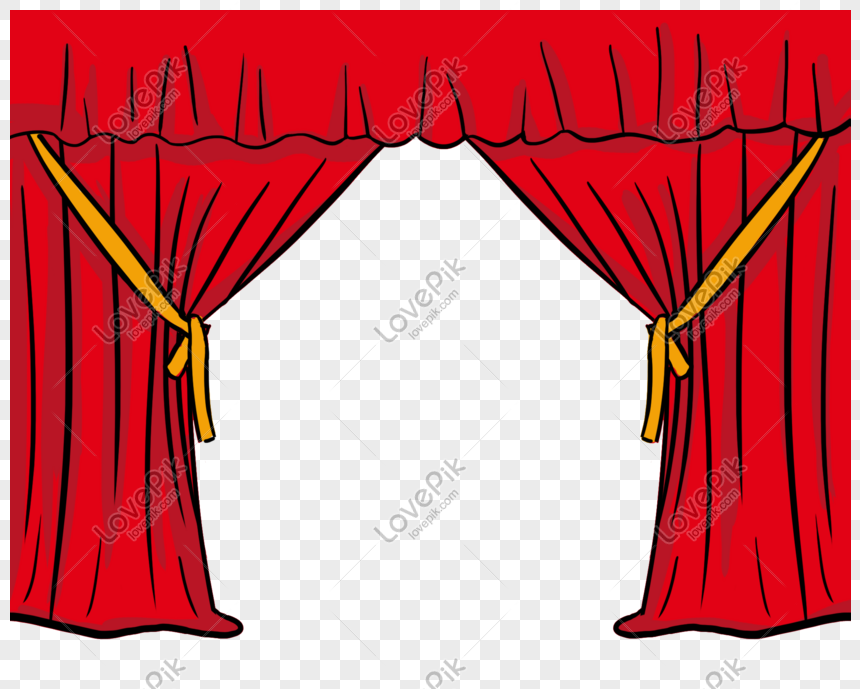 Cartoon Hand Drawn Red Curtain Png Image Picture Free Download 611643269 Lovepik Com