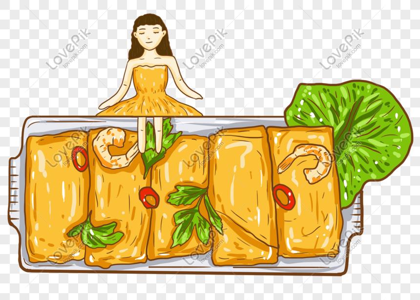 Dibujado A Mano Ilustracion De Dibujos Animados Cocina Tradicio