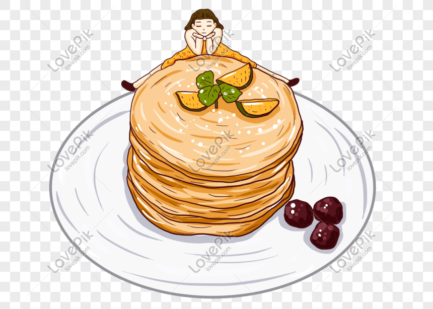 Tangan Kartun Yang Ditarik Tangan Lucu Makanan Tradisional Ilust