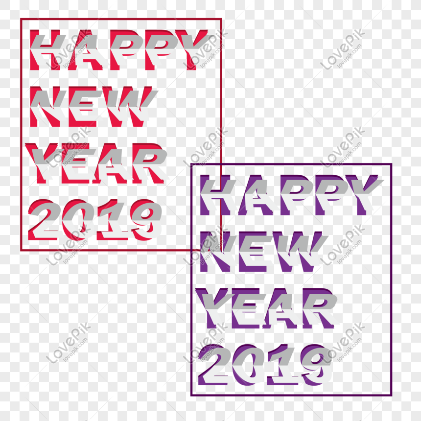 Happy New Year Font 102