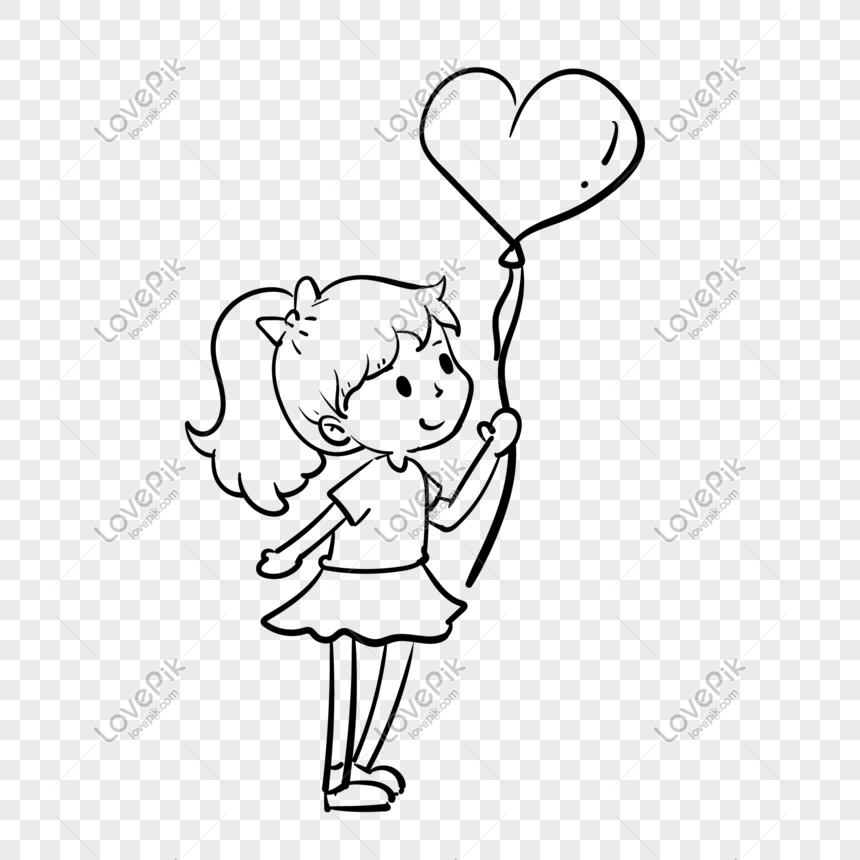 Lukisan Garis Belon Hari Valentine Menggambarkan Ilustrasi Gambar Unduh Gratis Imej 611698080 Format Psd My Lovepik Com
