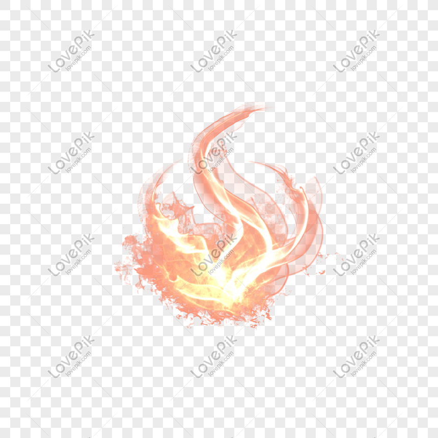 Flame effect simulation real element nature png