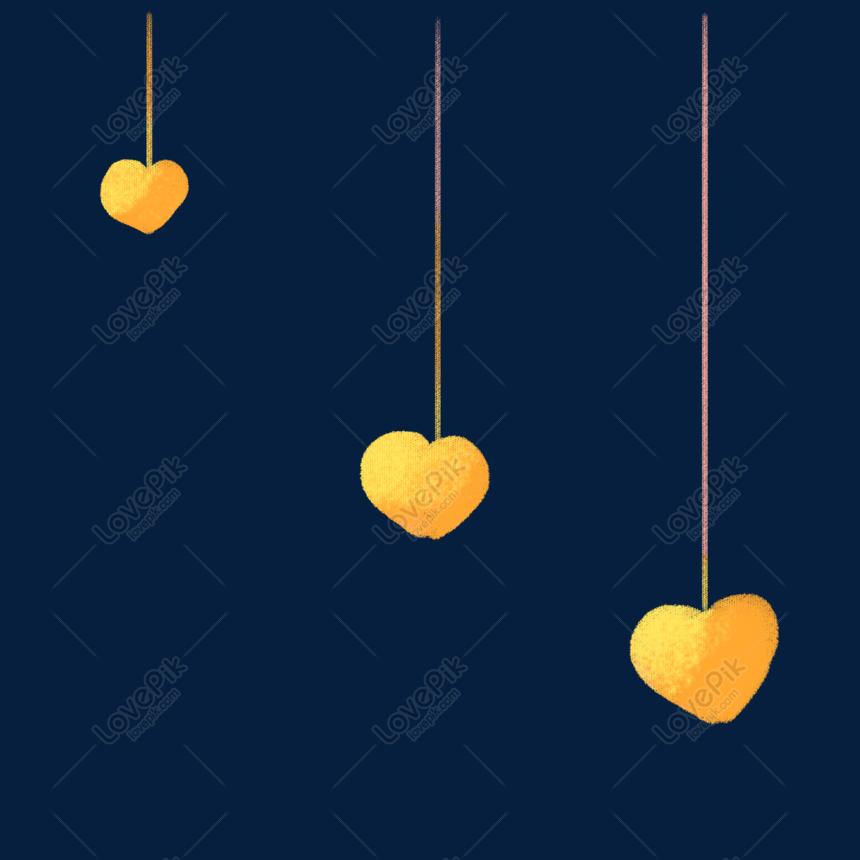 Màu Vàng đầy Màu Sắc Tình Yêu Minh Họa Miễn Phí Hình ảnh