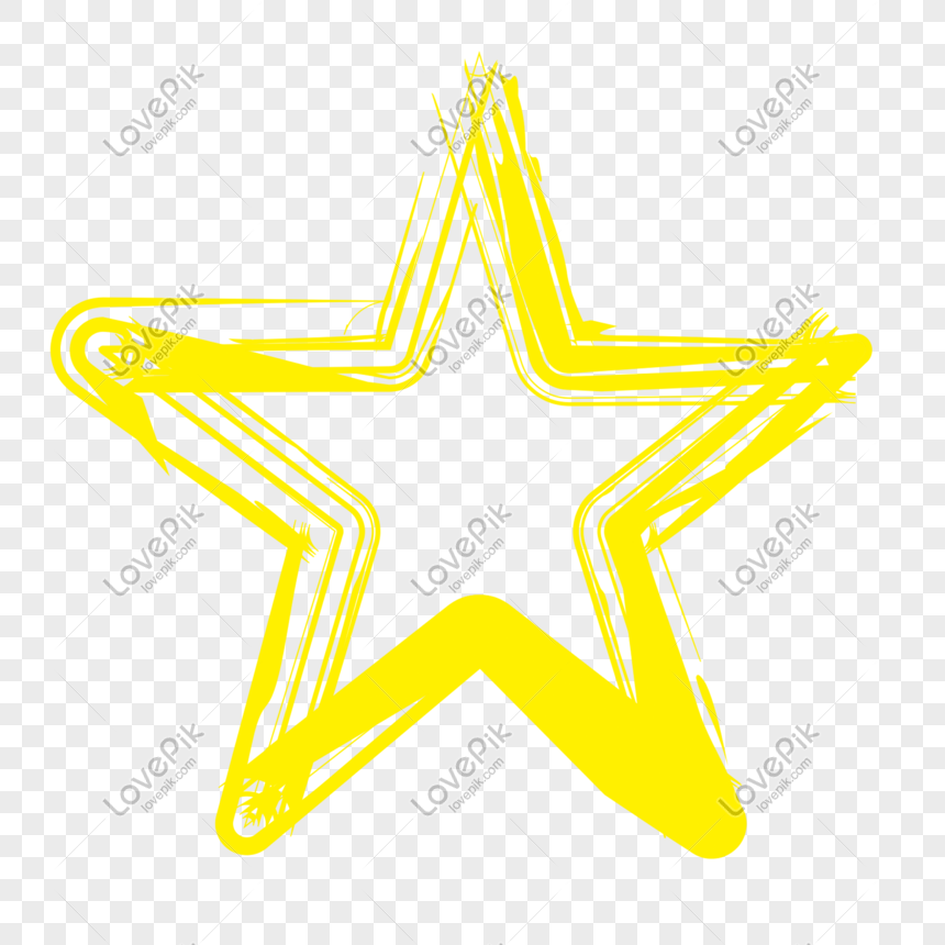 Line art cartoon stars sticker png image_picture free