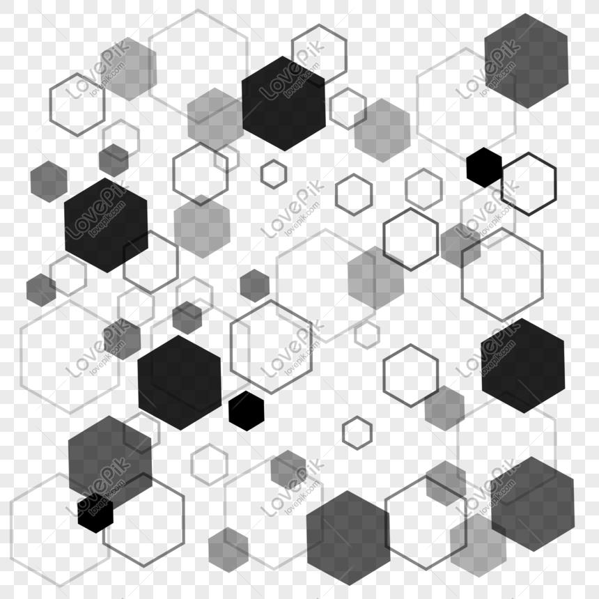Gradient tech sense line geometric background texture png