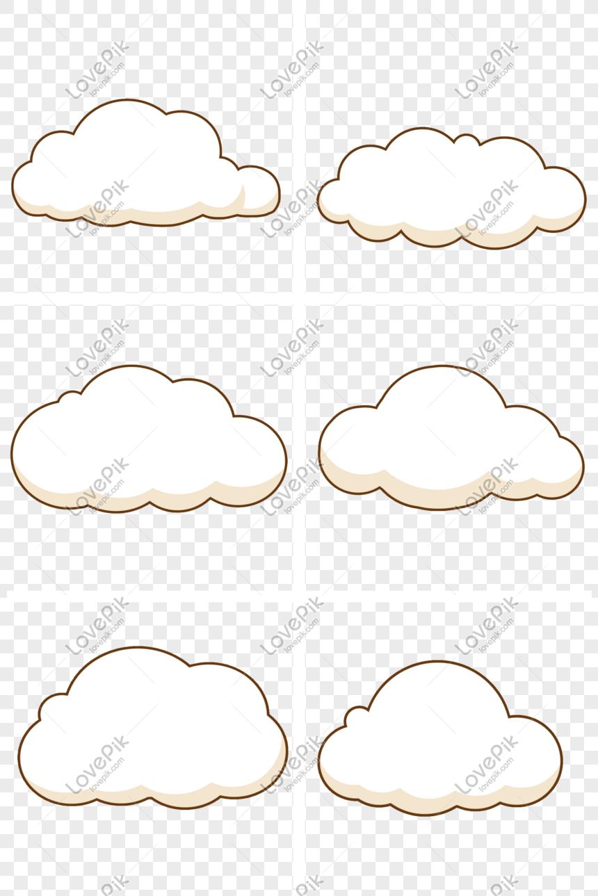 kartun awan lucu gambar unduh gratis Grafik