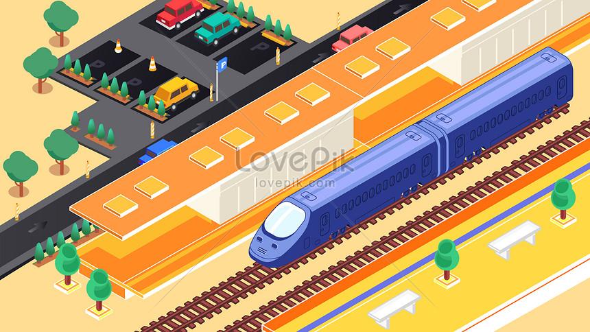 Gambar Kereta Api Kartun Berwarna Kartun 25d Stesen Kereta Api Berkelajuan Tinggi Menghentikan Tem Gambar Unduh Gratis Imej 630022243 Format Jpg My Lovepik Com