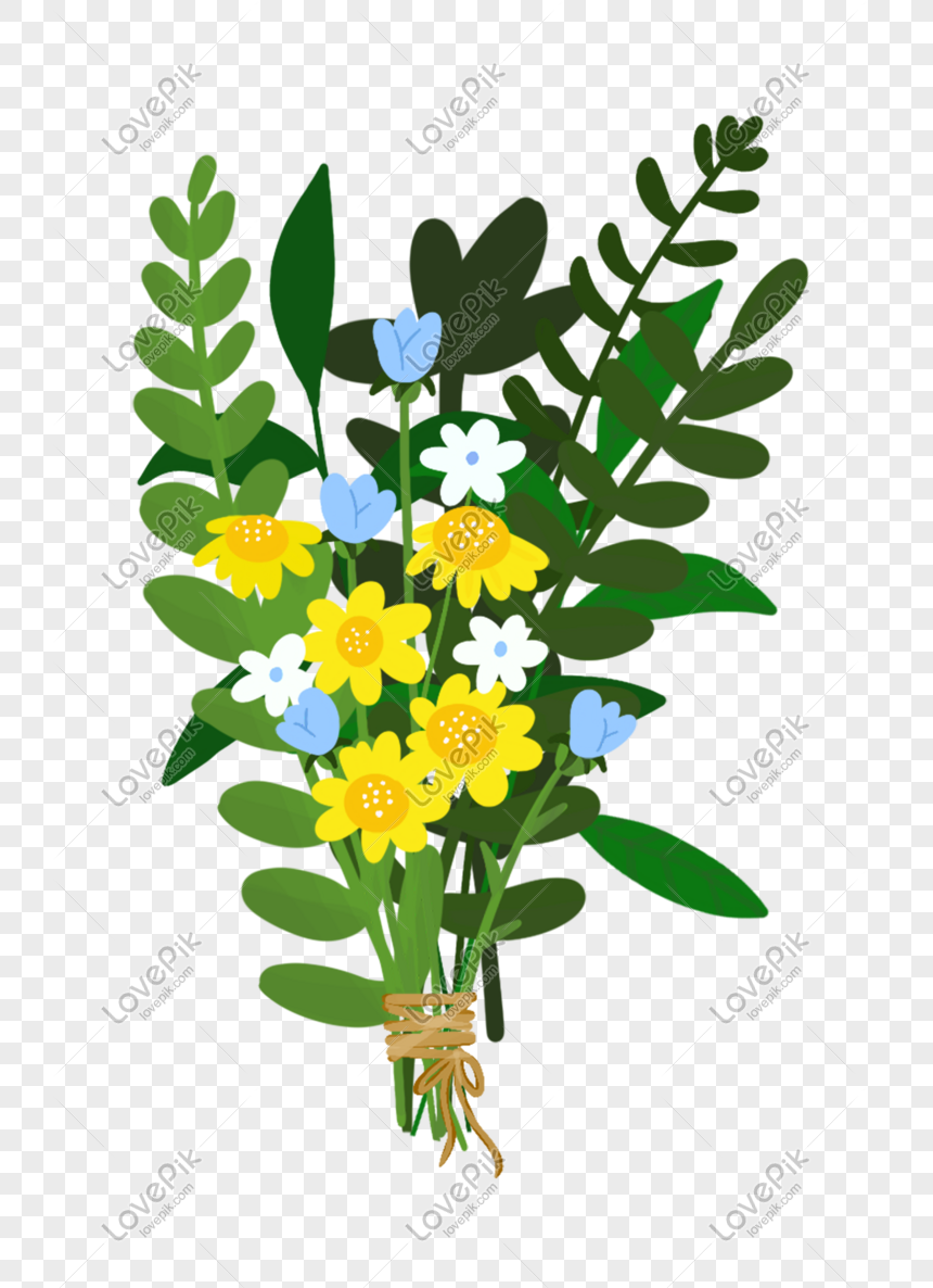 hand drawn flowers bouquet illustration png
