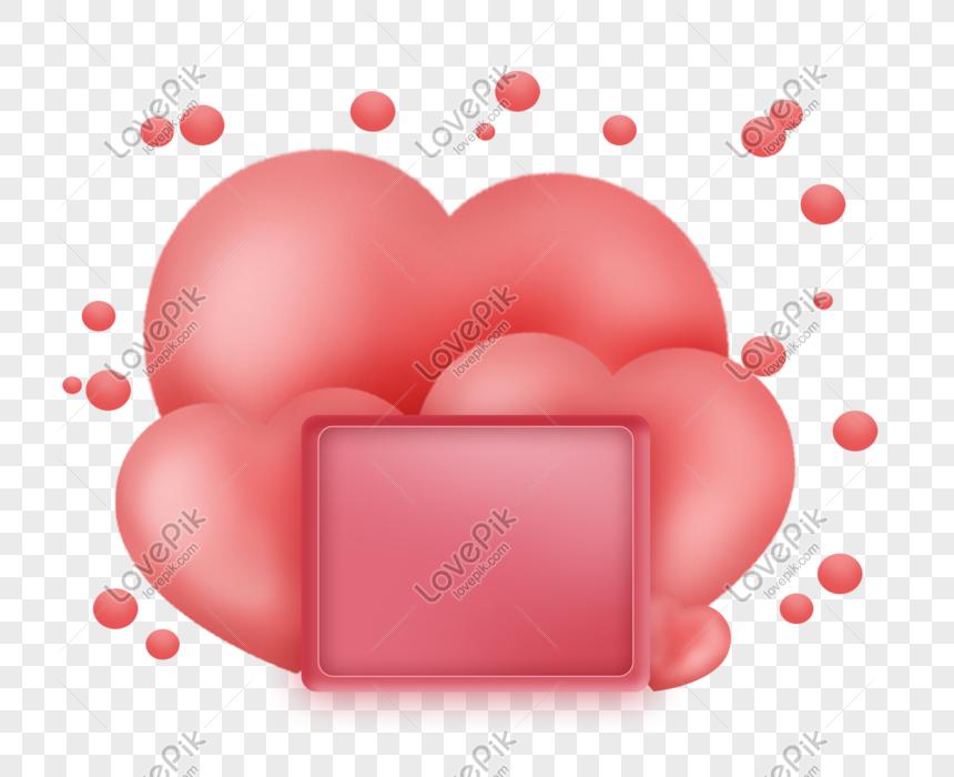 valentine day stereo pink heart title box Hình ảnh | Định