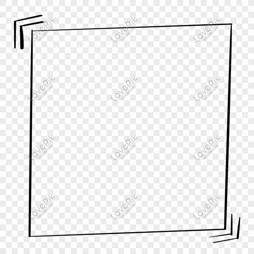 hand painted frame simple square trembling box free buckle png image picture free download 611650505 lovepik com hand painted frame simple square