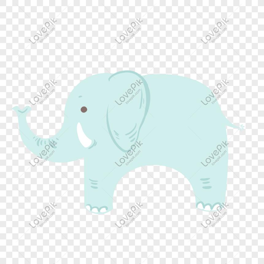 Rotulo De Elefante Pequeno Bonito Dos Desenhos Animados Imagem