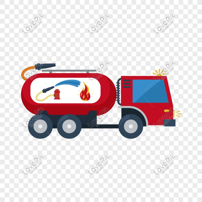 Truk Pemadam Kebakaran Kartun Tangan Ditarik Vektor Png Grafik Gambar Unduh Gratis Lovepik