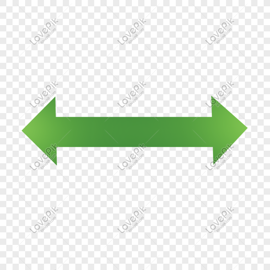 Green Bidirectional Straight Arrow Png Image Picture Free Download 611700770 Lovepik Com