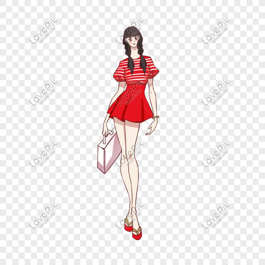 Personajes De La Moda Del Día De Las Niñas Con Vestidos