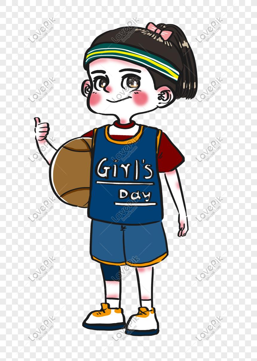 Girls Day Tampan Lucu Karakter Kartun Gadis Olahraga