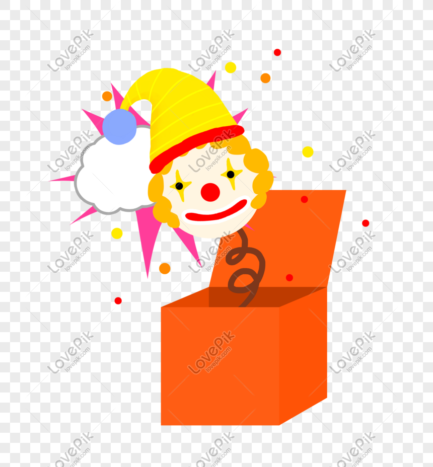 Ilustrasi Kotak Spoof Badut Hari Hari April Mop Png Grafik Gambar