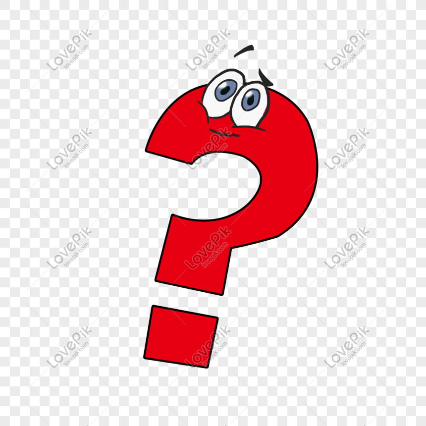 hand drawn cartoon red cute anthropomorphic question mark png image picture free download 611699122 lovepik com hand drawn cartoon red cute