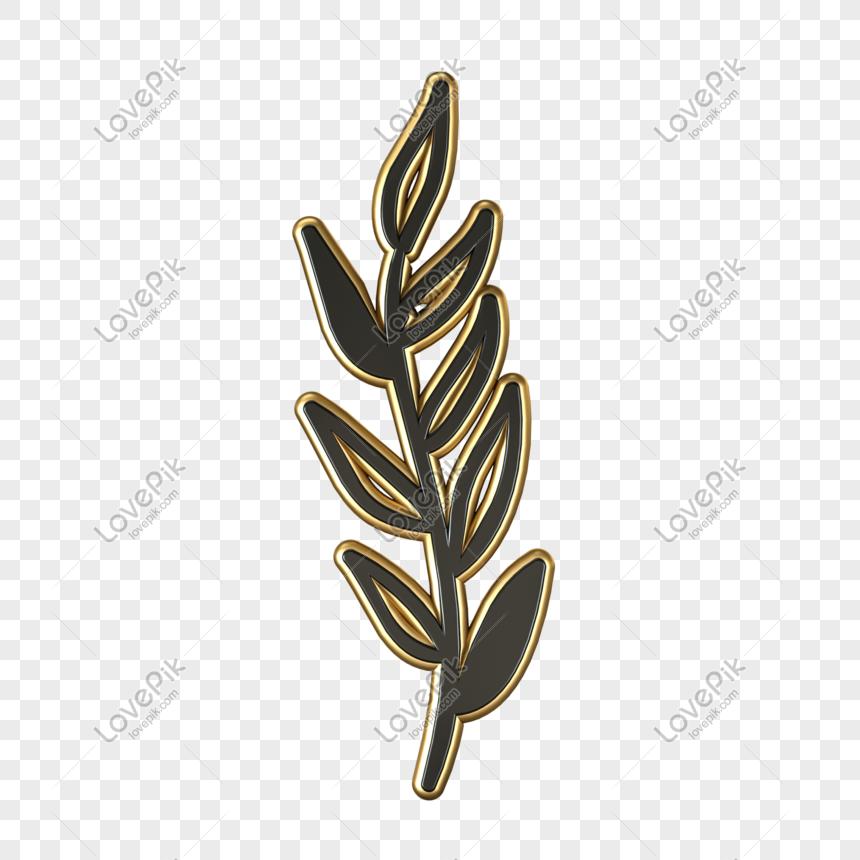 C4d black gold texture three dimensional grass png