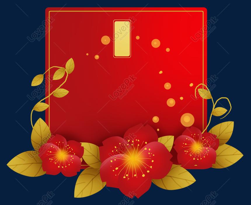 Tahun Baru Cina Ucapan Kad Ucapan Kad Ucapan Bunga Gambar Unduh Gratis Imej 611707864 Format Psd My Lovepik Com