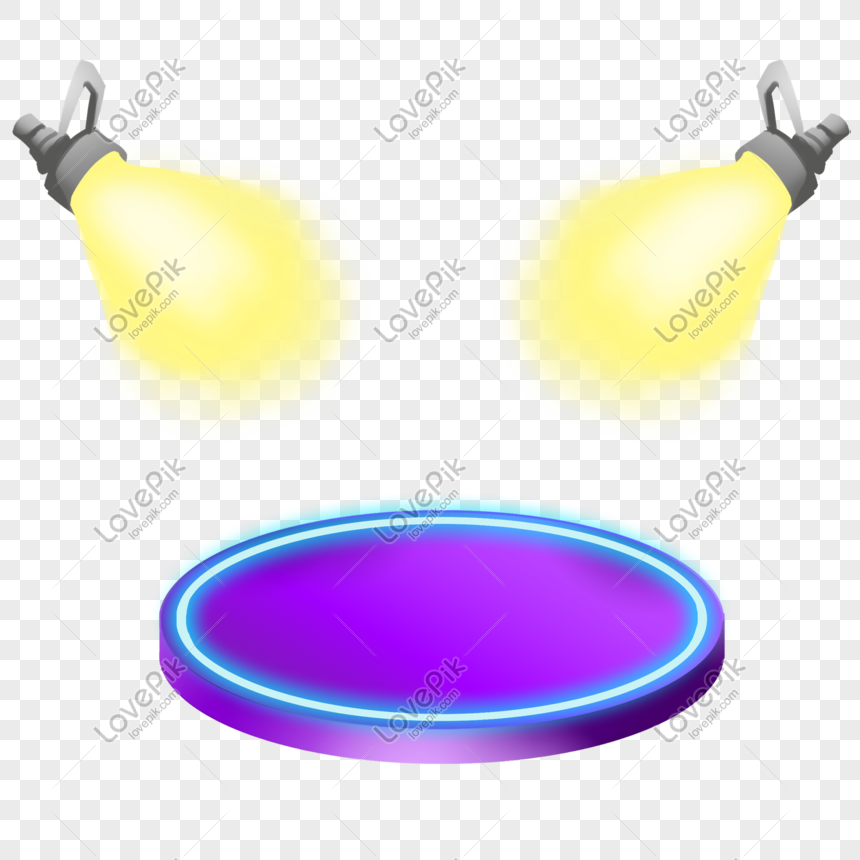 stage light spotlight glass glare png