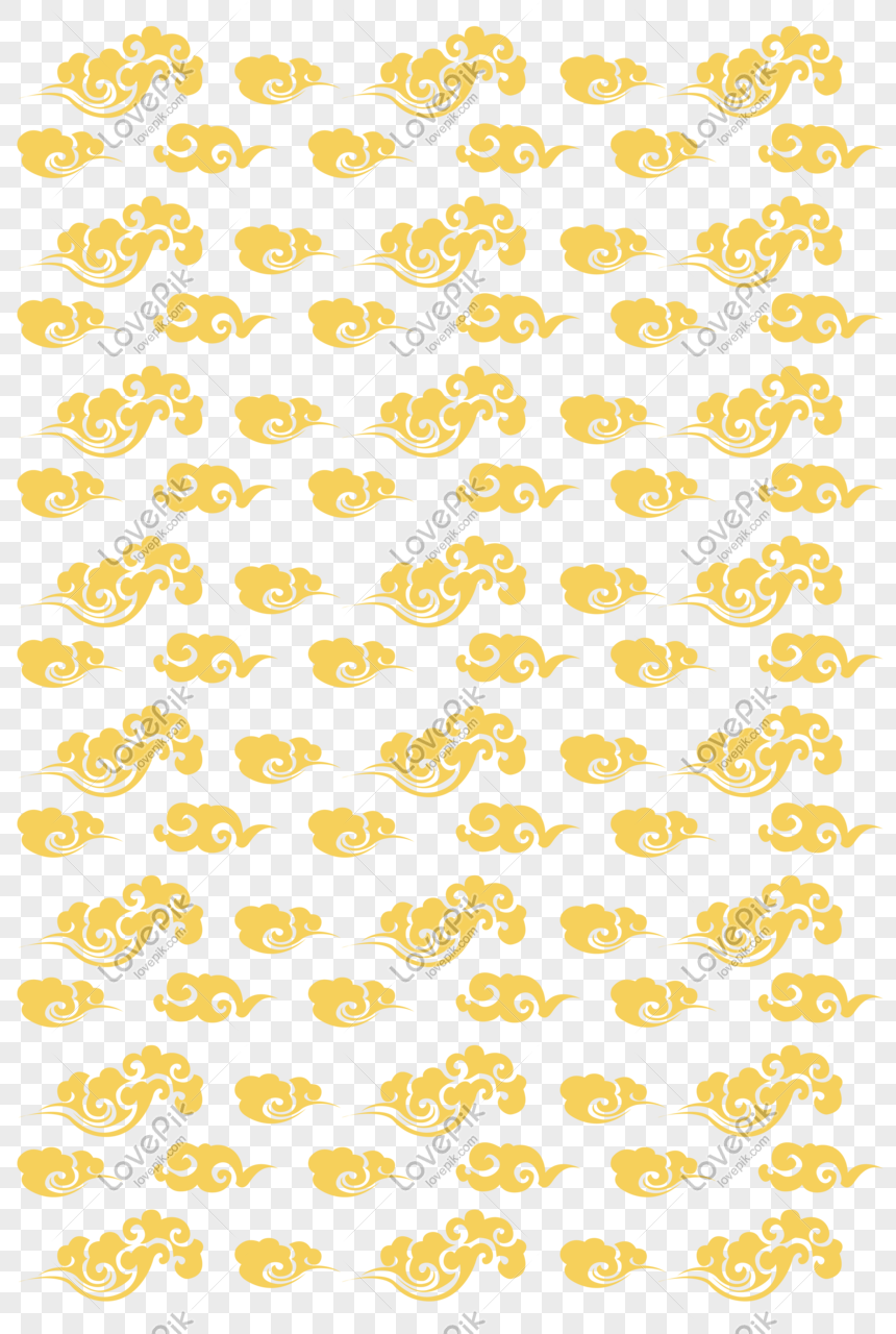 yellow auspicious cloud shading illustration png