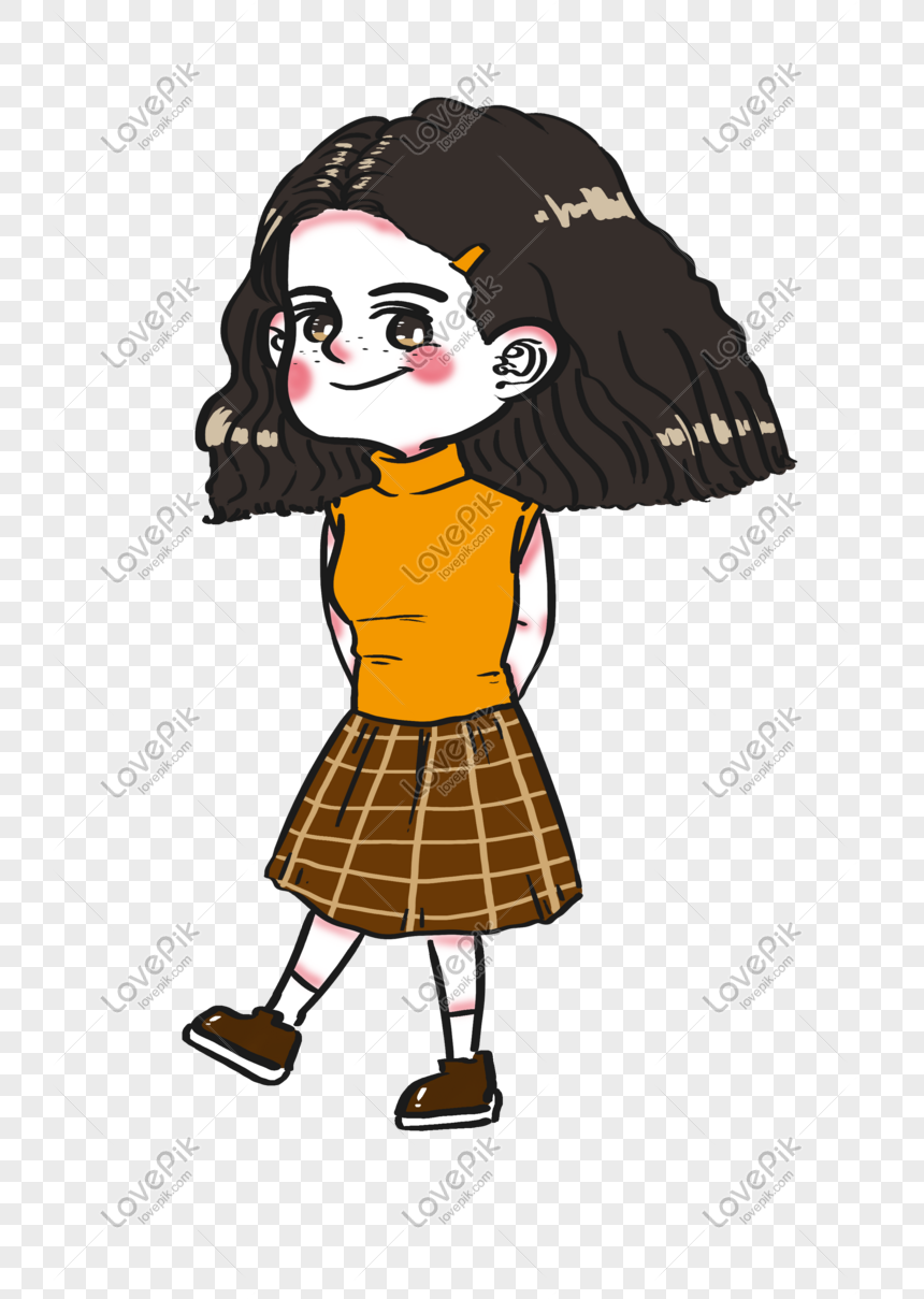Cute And Stylish Freckles Girl Cartoon Character For Girls Day Png
