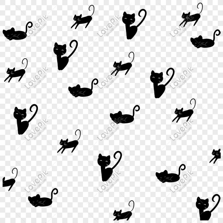 Kara Kedi El Boyamasi Arka Plan Ucretsiz Toka Bedava Indir