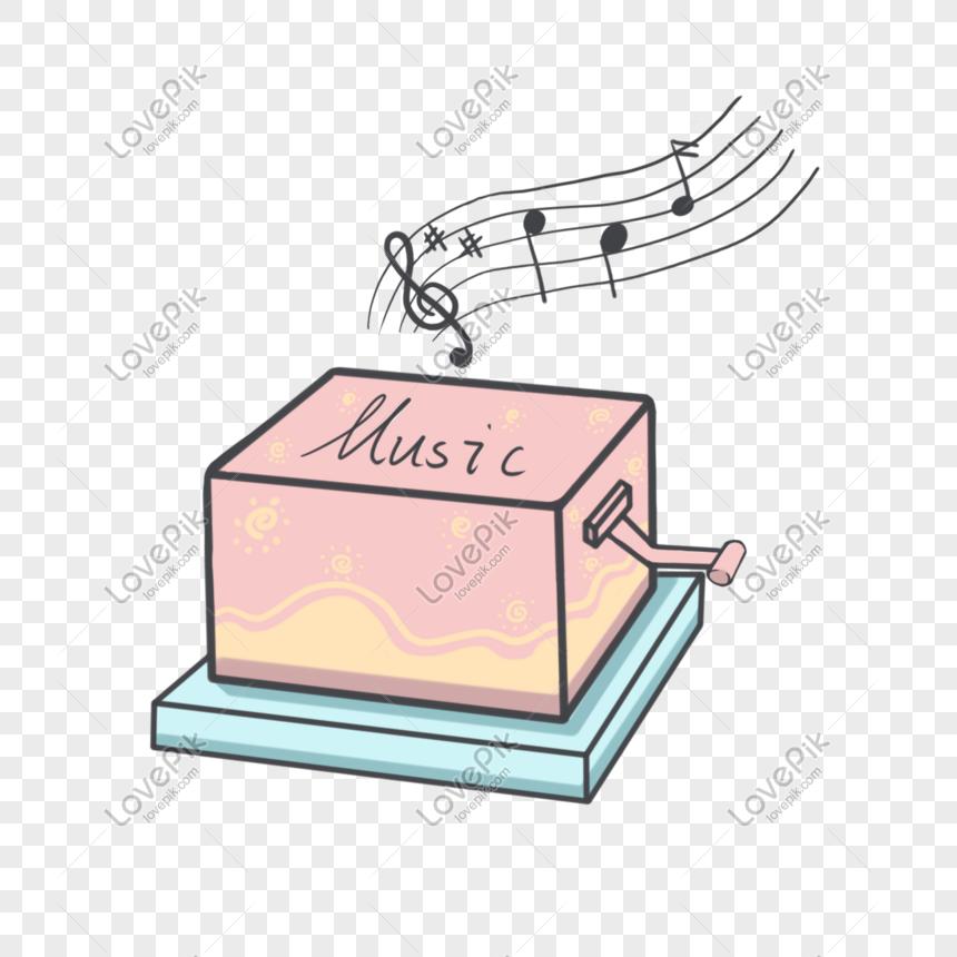 Рисунок музыкальной шкатулки