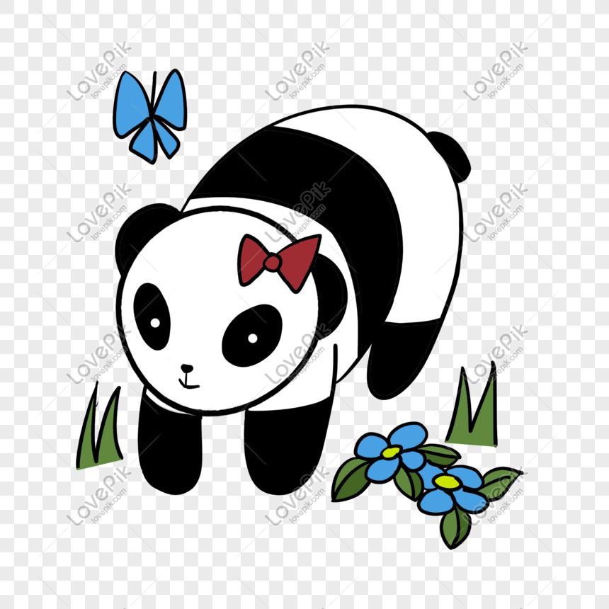 Ilustrasi Panda Comel Hitam Dan Putih Gambar Unduh Gratis Imej 611711057 Format Psd My Lovepik Com