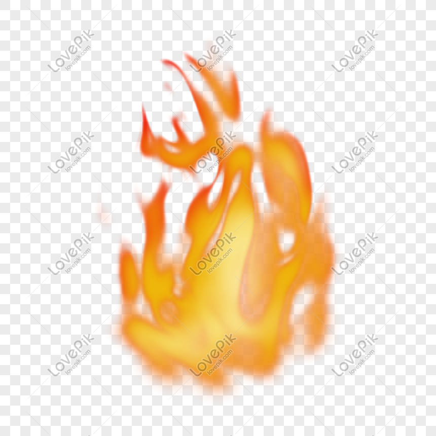 Holiday golden yellow real flame effect png image_picture