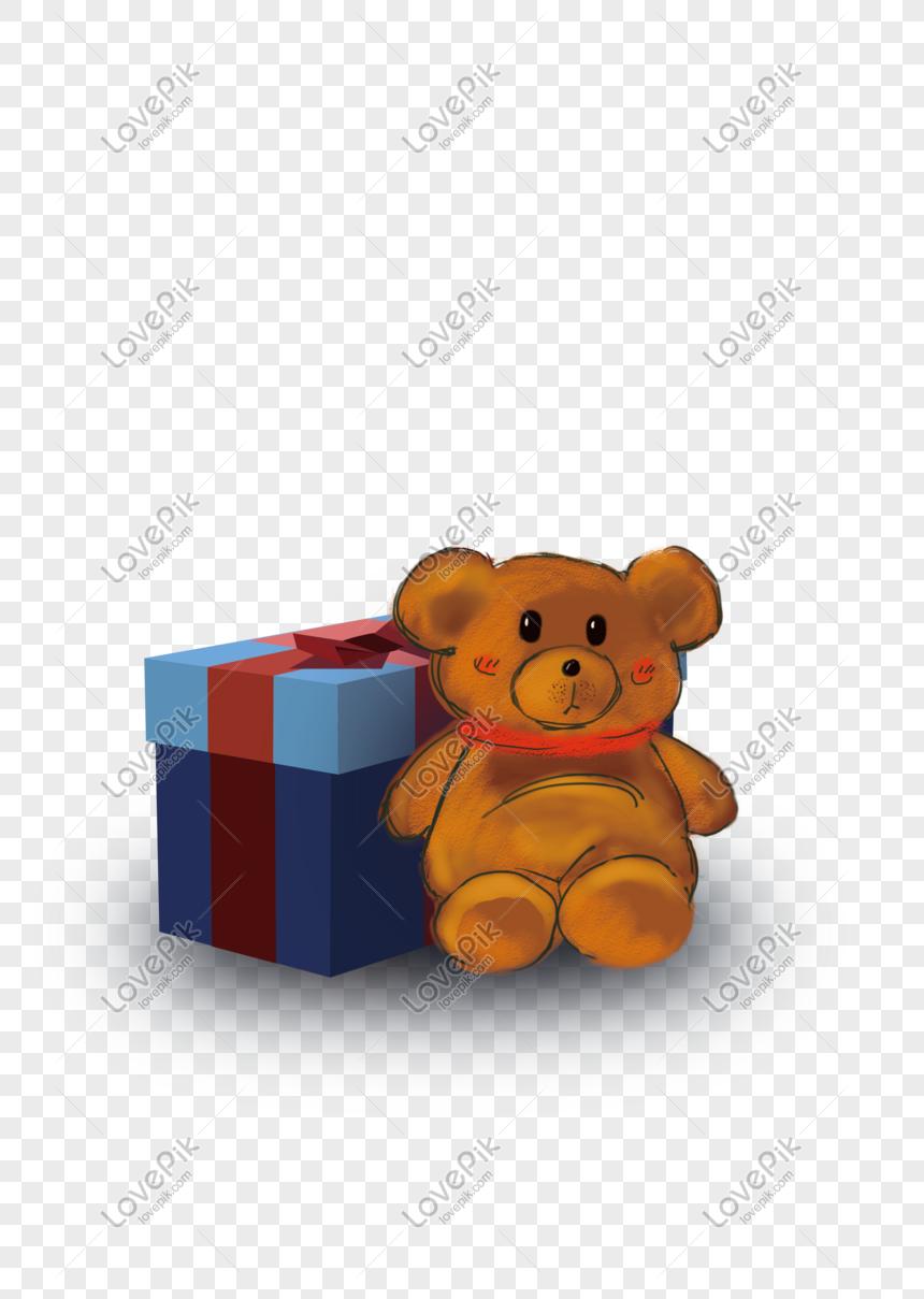 Kotak Hadiah Hari Valentine Beruang Anak Patung Elemen