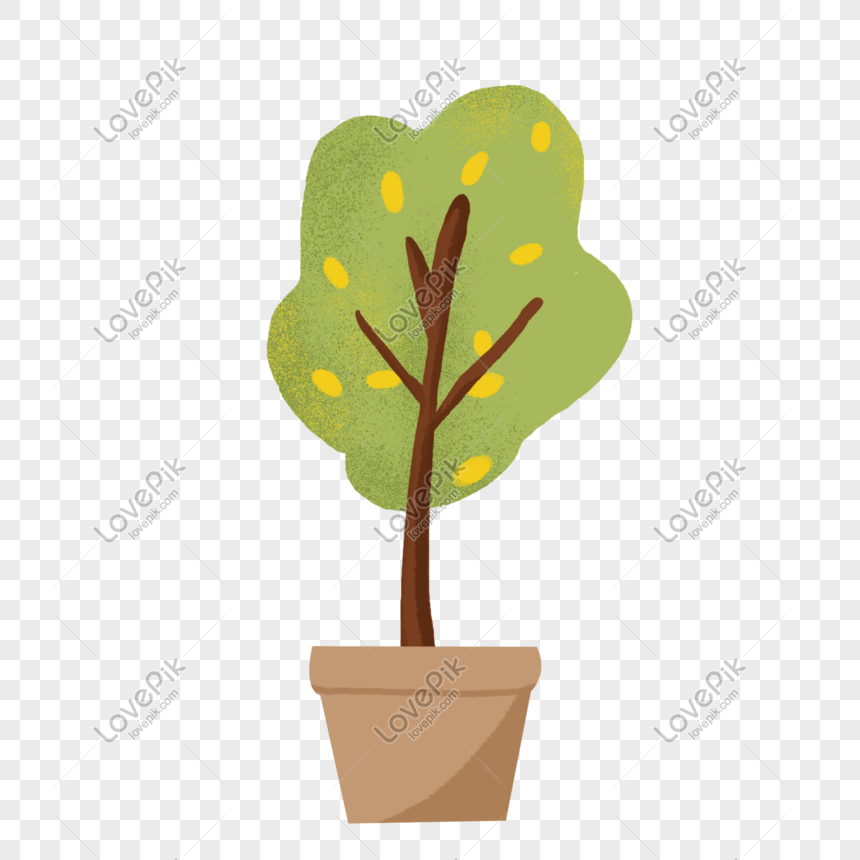 cartoon green plant potted elements png image picture free download 611751370 lovepik com lovepik